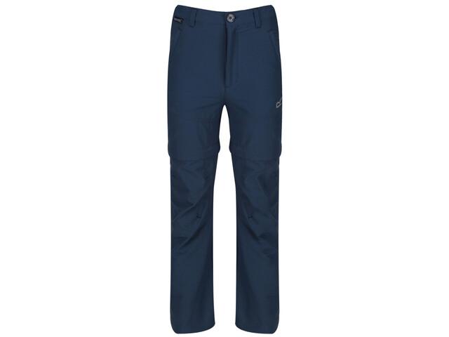 Regatta Hikefell Stretch Zip-Off Trousers Kids dark denim
